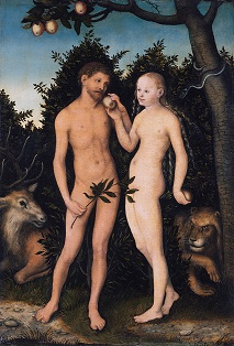 Adam and Eve by Cranach